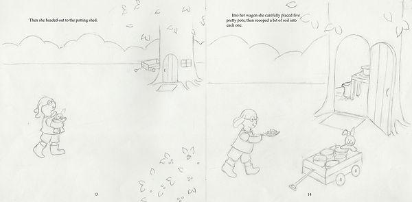 Penelope's Plan, 13-14, final drawing 2.