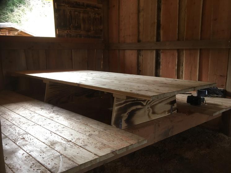 Soveplads bliver til bordplads