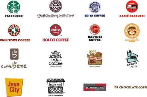 CÁC THƯƠNG HIỆU CAFE LỚN Ở HÀN QUỐC