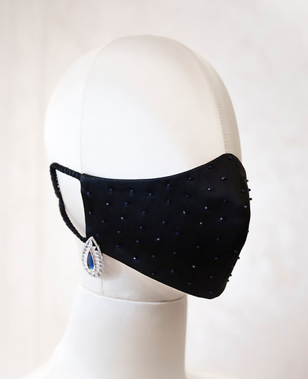 SAPPHIRE FACE COVERING / COUTURE MASK