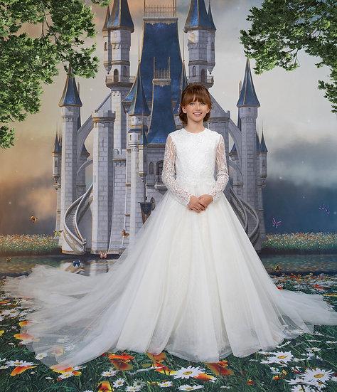 WHITE LONG PRINCESS DRESS