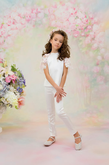 WHITE LONG TROUSERS