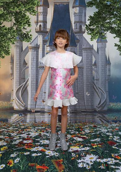 AN ELEGANT ROSE FLORAL DRESS