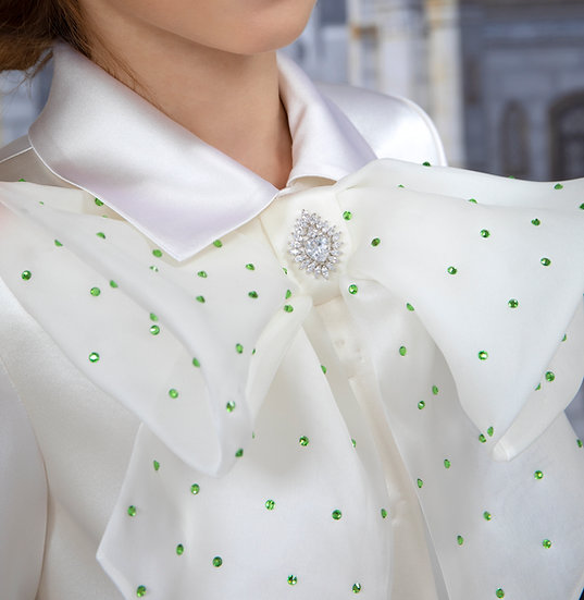 SILK BLOUSE WITH AN ORGANZA BOW
