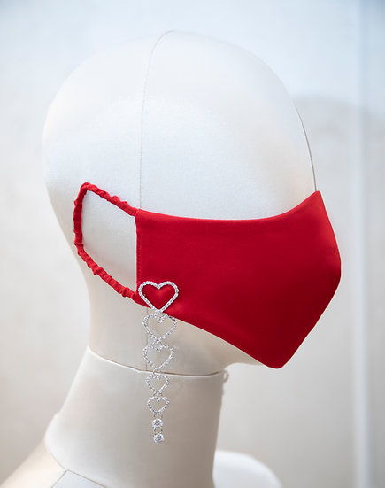 VALENTINE'S RED DAY FACE COVERING / COUTURE MASK