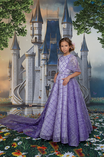 ORGANZA LONG PRINCESS DRESS
