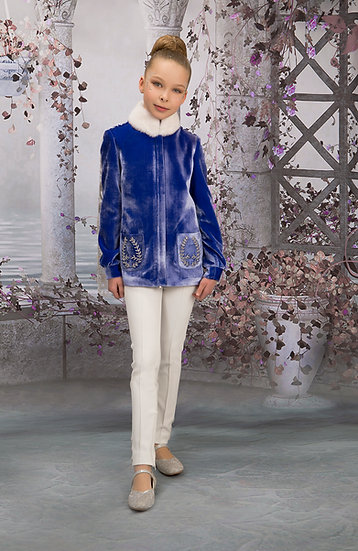 WHITE TROUSERS WITH ZIRCON