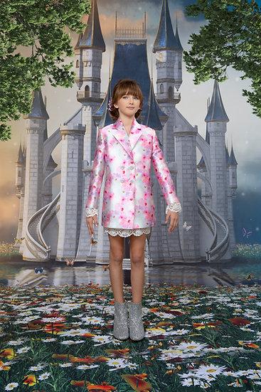 ROSE FLORAL JACKET DRESS