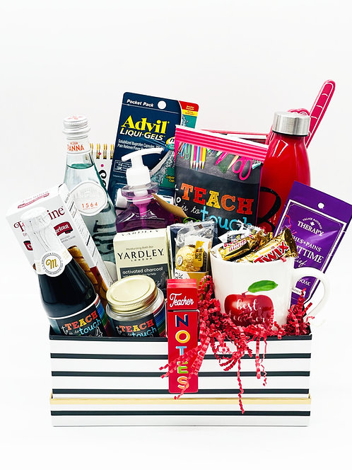Teacher Appreciation Gift Basket Deluxe