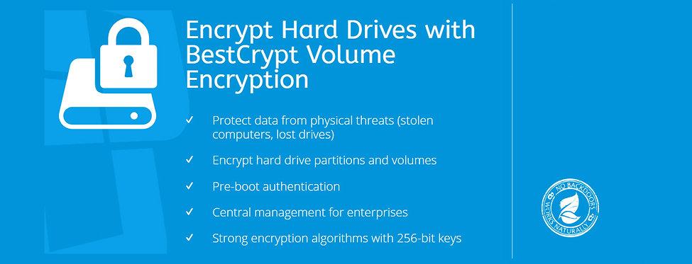 Halodata Jetico BestCrypt volume banner.