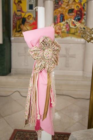Λαμπάδα βάπτισης Floral