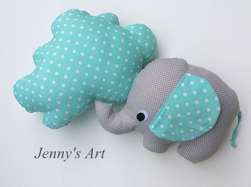 ελεφαντακι και συννεφακι μαξιλάρια