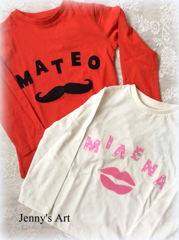 Μπλουζάκια μουστάκι/χείλια