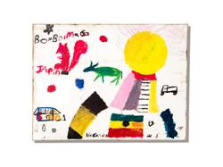 スラム街の子供達が描いた作品