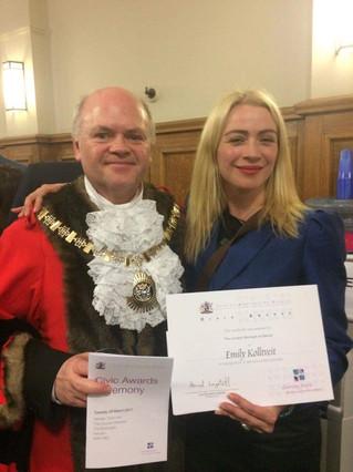 Emily Wins Civic Award