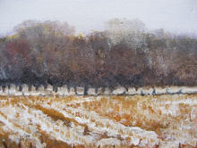 Winter canvas 20 by 20cms