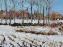 Winter landscape on canvas Heerbaan 9 40 by 40cms