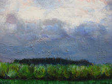 Harry's Flemish landscape in Oil on canvas (30 by 20cms)