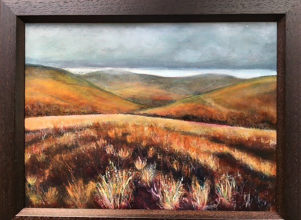 The Lammermuirs 36 by 48cm framed Oil on
