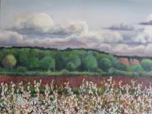 Spring landscape 80 by 50cms