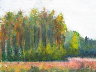 Poplars (acrylic)