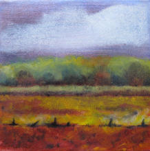 Rain over Flemish Fields  oil on canvas 25 by 25cms  2014