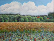 Late summer landscape 70 by 50cms
