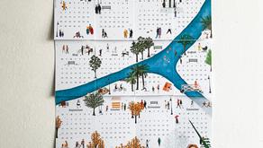 Free Monthly Calendar - April 2020