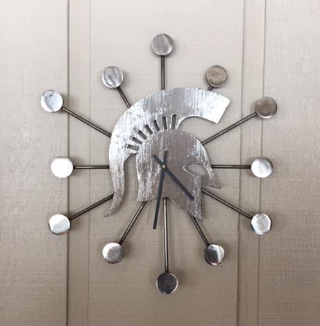 Silver Spartan Clock