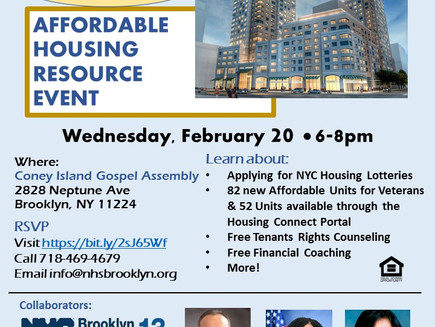 Affordable Housing Resource Event (Coney Island)