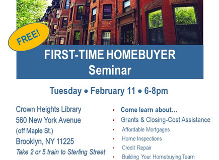 First-Time Home Buyer Seminar (Crown Hts)