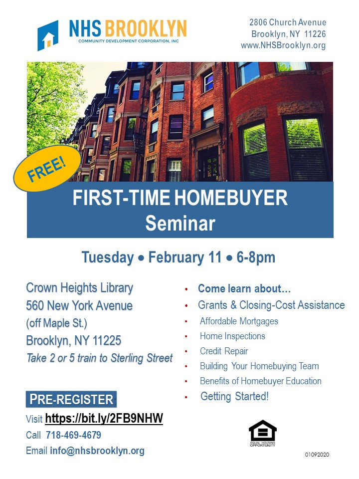 2020 NHS Brooklyn NYC Home Buyer Crown Heights Library Education Grants
