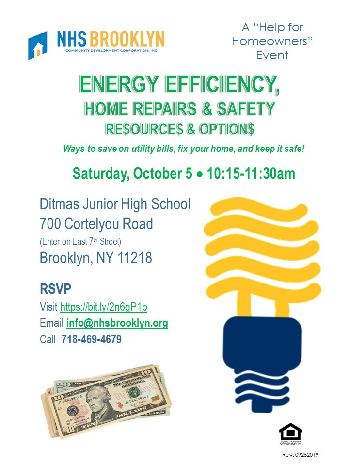 energy efficiency home repairs safety nhs brooklyn seminar housing fair 2019
