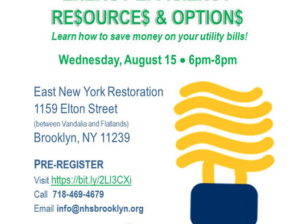 $ave on Utility Bills! Free Event 8/15 (ENY)