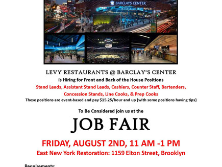 Job Fair for Barclays Center Restaurants