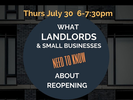 What Landlords and Small Businesses Need to Know about Re-Opening (webinar)