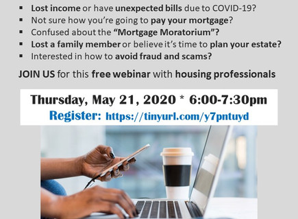 TONIGHT! COVID-19 Town Hall for Homeowners