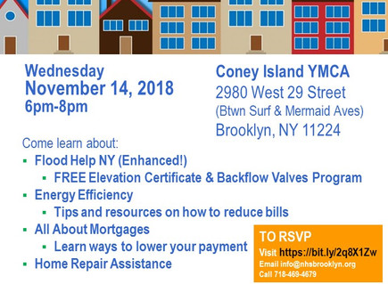Help for Homeowners Event in CI on Wed., 11/14