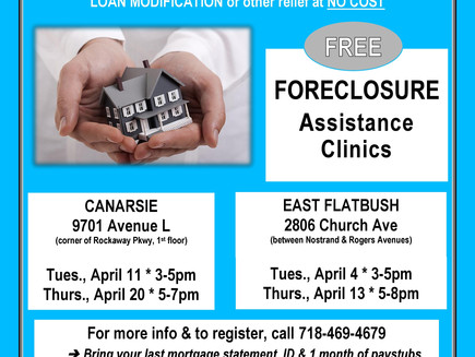 Foreclosure Help Clinics - April 2017