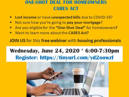 HOMEOWNER TOWN HALL: Mortgage Moratorium, CARES Act, One-Shot Deal for Homeowners