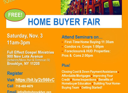 First-Time Home Buyer Fair on Sat., 11/3