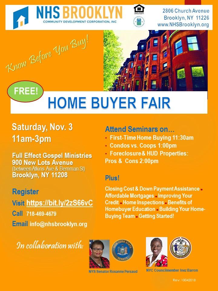 NHS Brooklyn Home Buyer Fair in East New York November 2018
