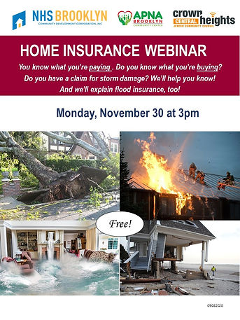Home Insurance Webinar 11302020 NO LINK.