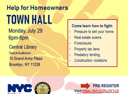 TOWN HALL: Help for Homeowners (Central Library)