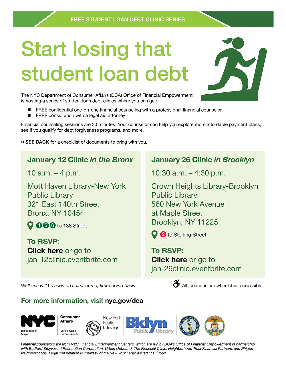 Student Loan Debt Reduction seminar with NYC Department of Consumer Affairs