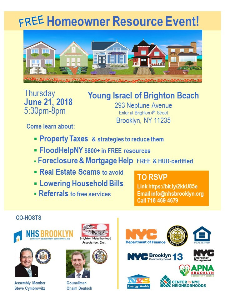 Homeowner Resource Event Brighton Beach NHS Brooklyn June 2018