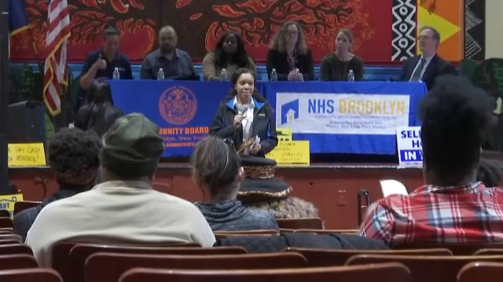 Community Board 17 and NHS Brooklyn Town Hall on real estate fraud and developer harassment of homeowners April 2019