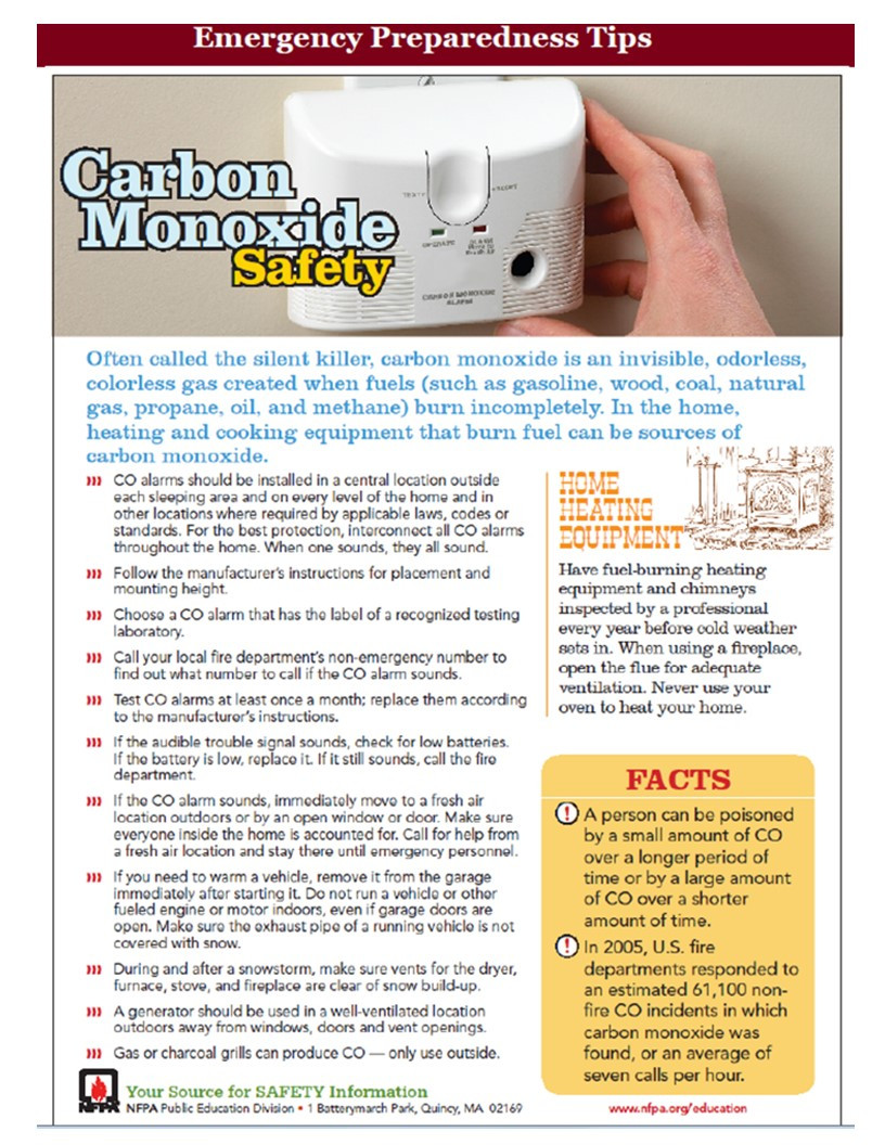 NHS Brooklyn carbon monoxide safety