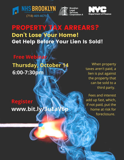 Overdue Property taxes? Don't lose your home! (Webinar Wed 10/14)