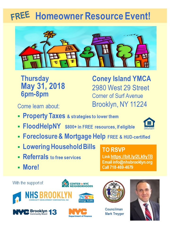 Coney Island Homeowner Resource Event May 2018